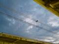 [空][電線][雲][夕方]千葉駅