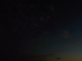 [空][雲][夕方][飛行機]飛行機ふたつ