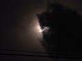[電線][空][雲][日食][月][太陽]日食