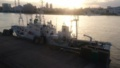 [船][太陽][川]漁業調査船みずほ丸