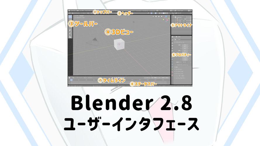 Blender2.8 Blender ユーザーインタフェース UI