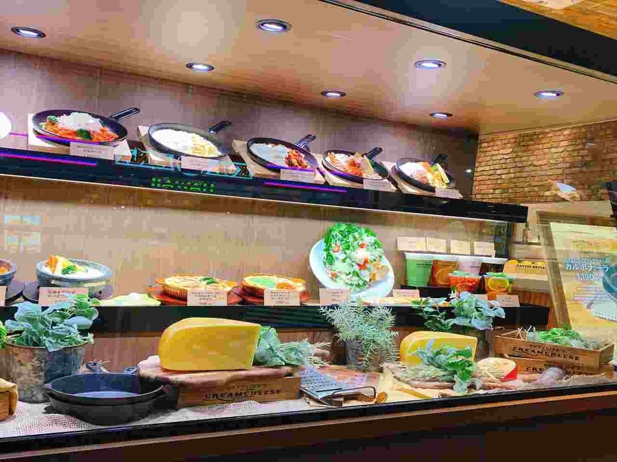 チーズレストラン リコッタ  ディスプレイ