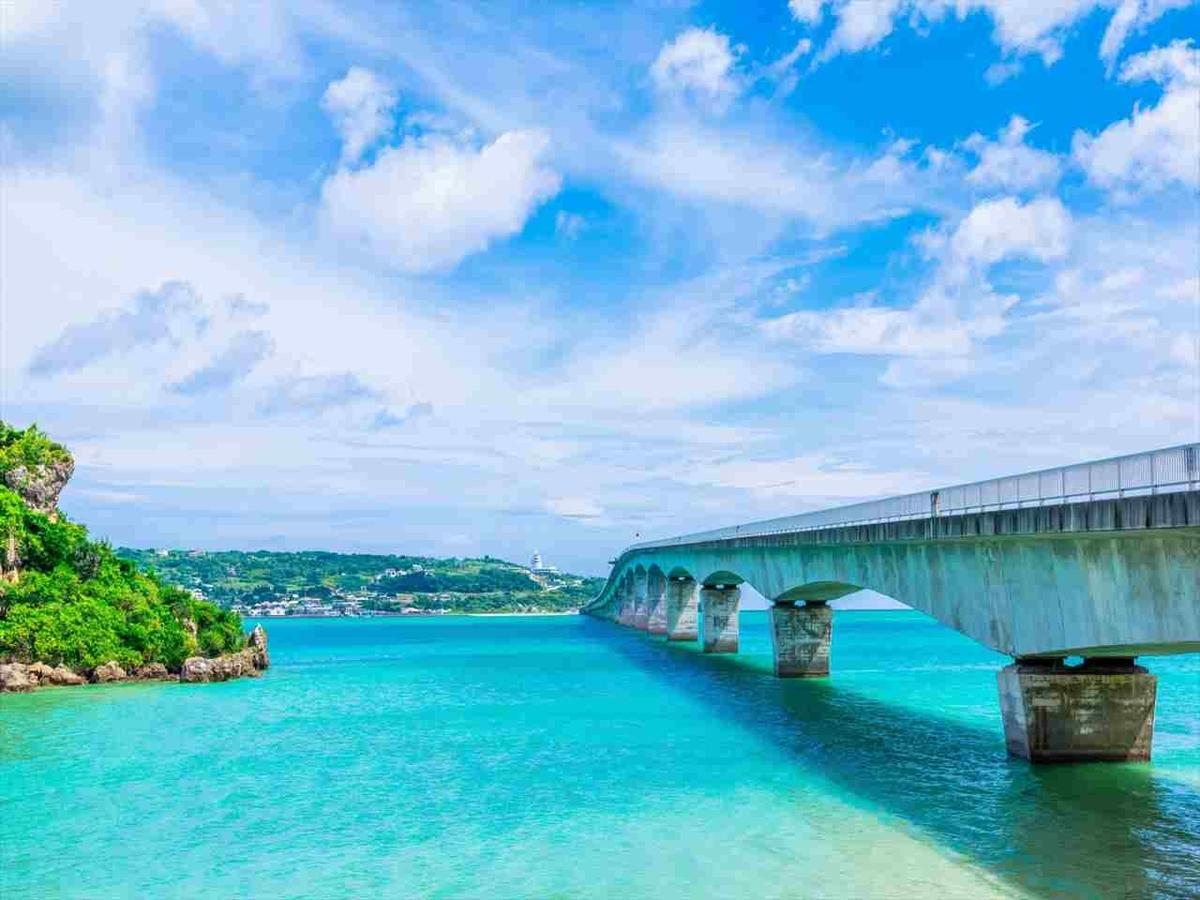 沖縄 古宇利大橋のきれいな風景