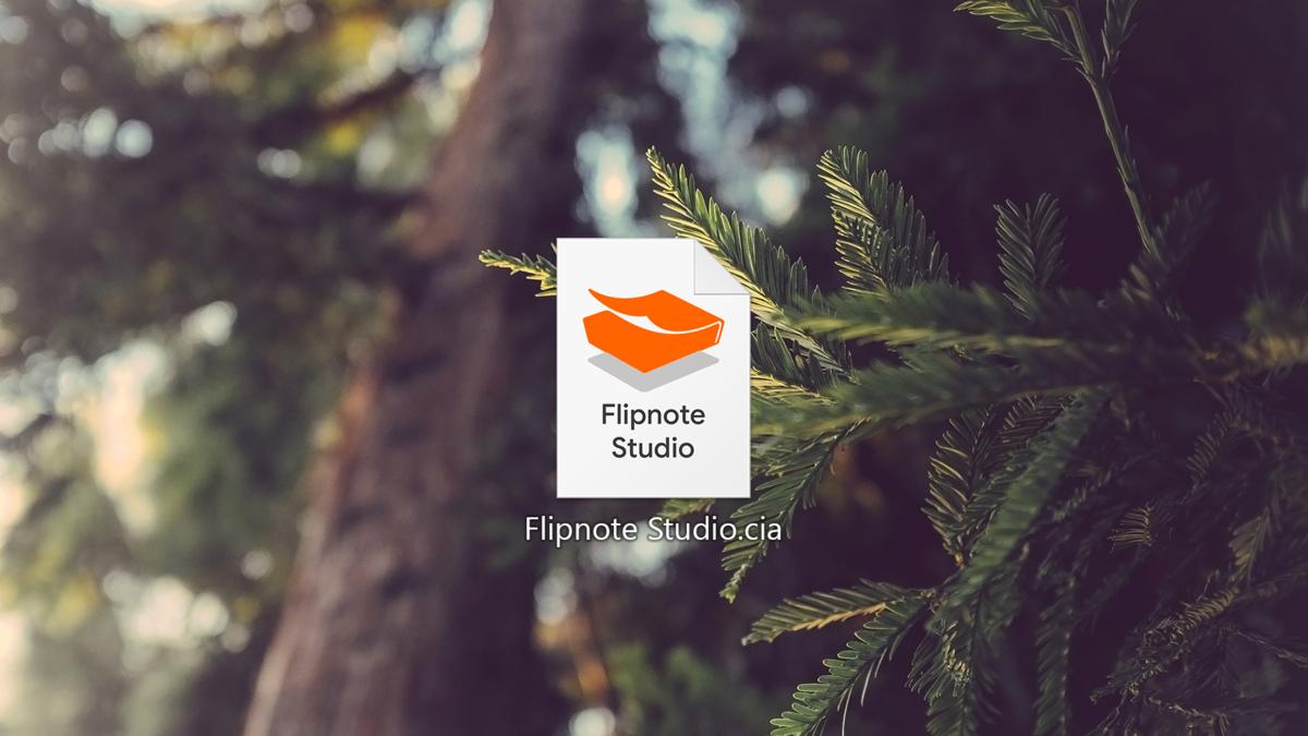 Flipnote Studio displayed as a CIA file
