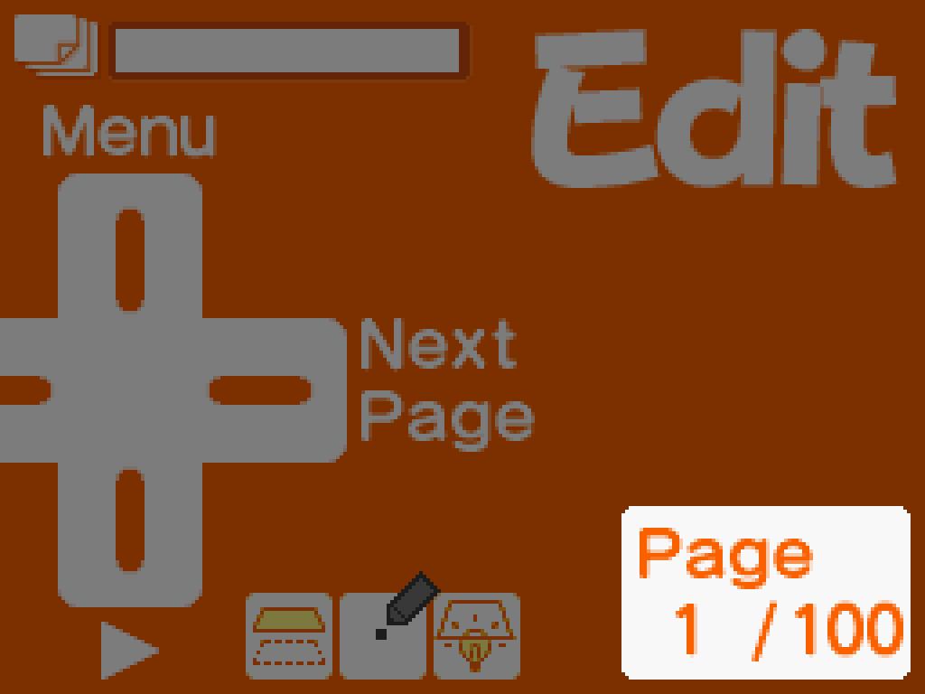 Flipnote Studio edit screen