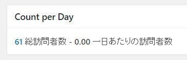Count per Day - 訪問者数の表示画面