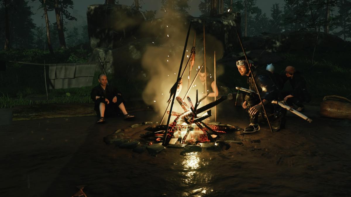 ゴーストオブツシマ 焚き火