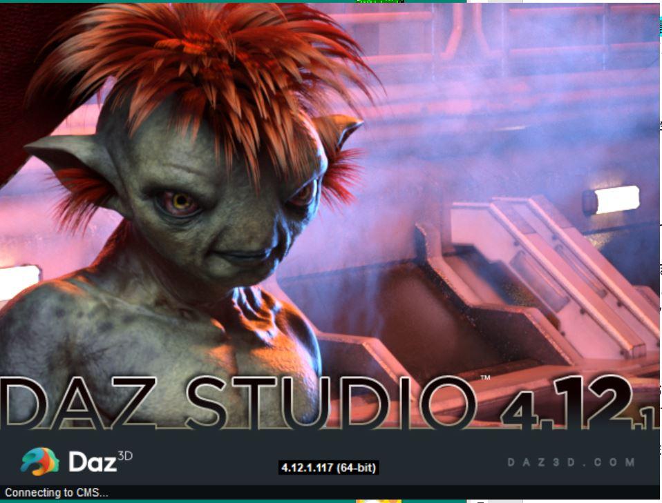 DAZ 起動画面