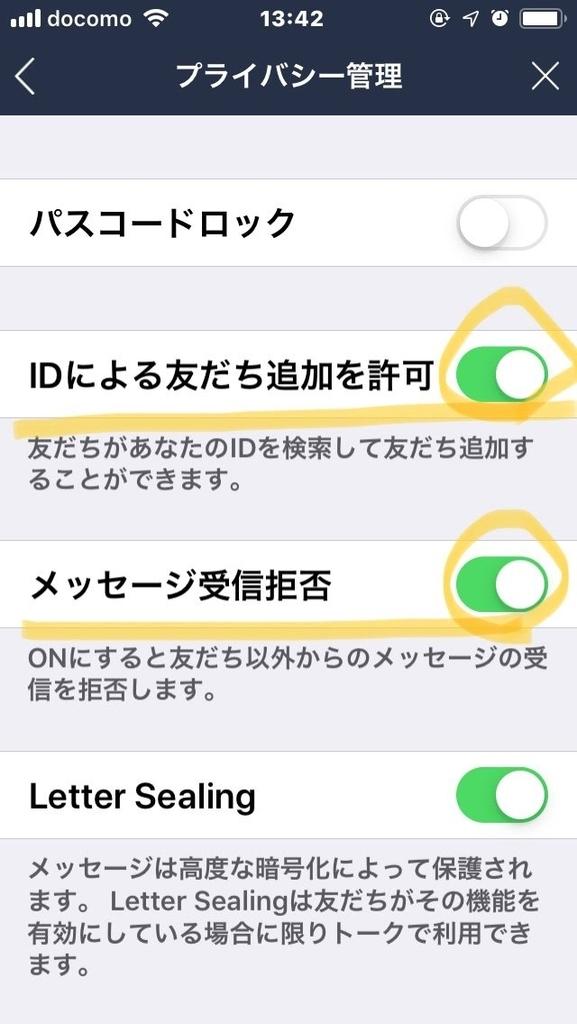 プライバシー管理の画面