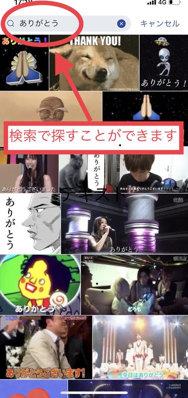 GIF動画 選択