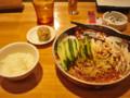 支那麺 はしご 溜池山王 鶏絲涼麺 焼売