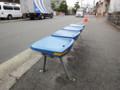 市バス バス停 椅子