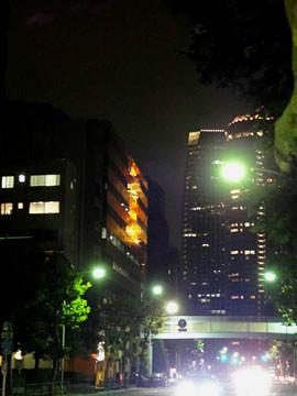 東京タワー 西新橋交差点