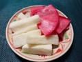 甘酢漬け 赤カブ 長芋