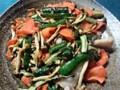 干し野菜 キュウリ ニンジン シメジ 鶏肉炒め