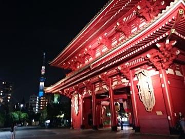 160617 浅草寺 ライトアップ