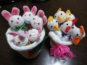 ウサギ ニワトリ 軍手 手作り