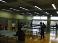 法政の学生と卓球。
