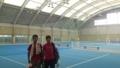 テニスプラザ尼崎で1時間練習