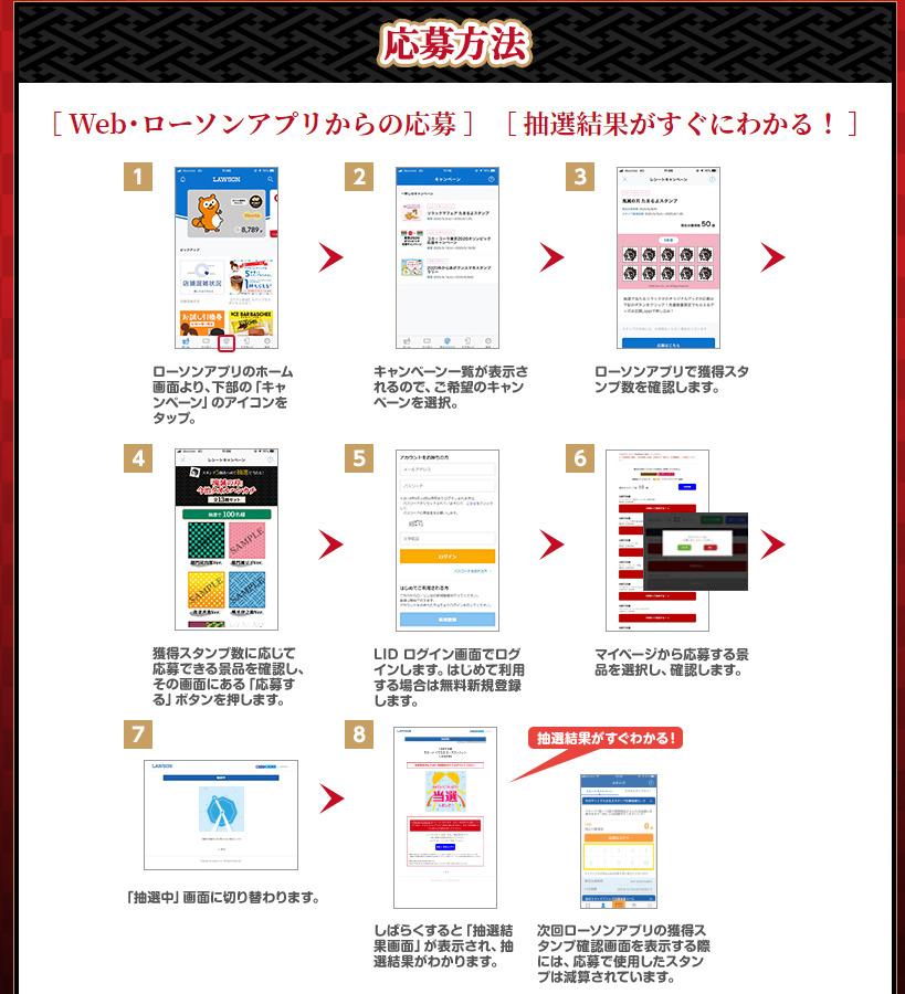 webアプリ抽選方法