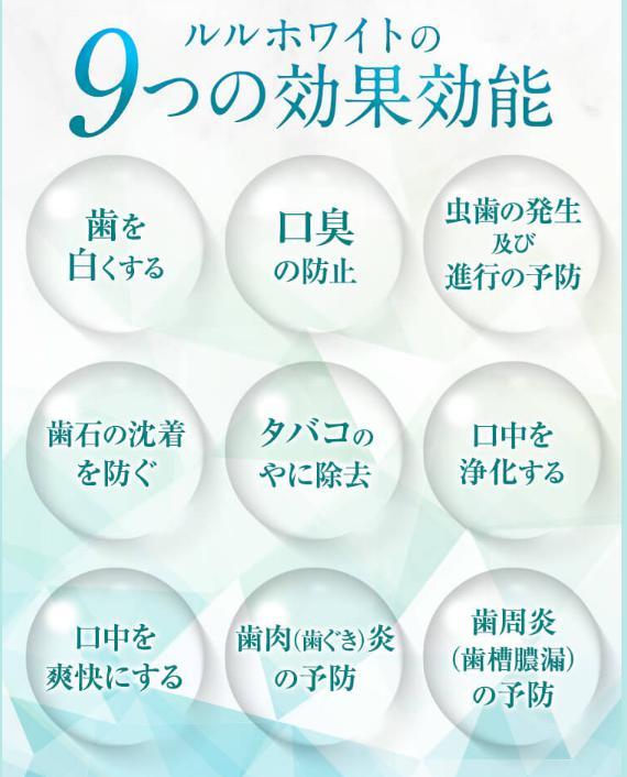 ルルホワイトの9つの効果効能