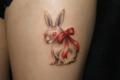 [東京][渋谷][都内][タトゥー][刺青][画像][デザイン][ウサギ][リボン][脚]
