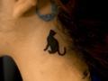 [東京][渋谷][原宿][タトゥー][刺青][画像][デザイン][ネコ][ワンポイント][首]