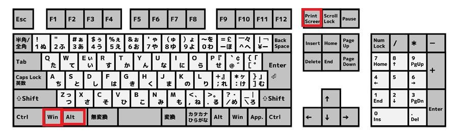 Windows+Alt+プリントスクリーン