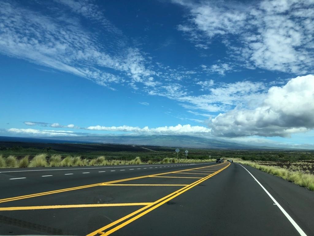 ハワイ島の道