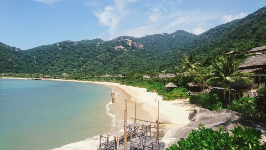 Six Senses Ninh Van Bayのプライベートビーチ