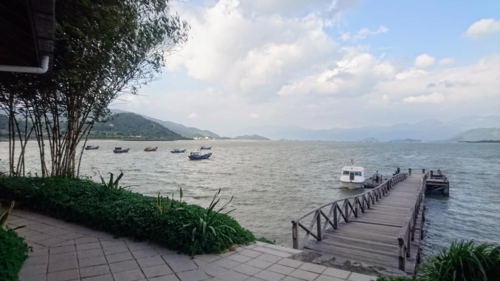 Six Senses Ninh Van Bayの専用船着き場