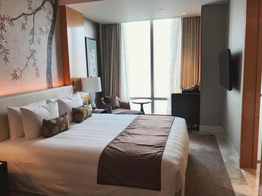 ロッテホテルハノイのベッドルーム