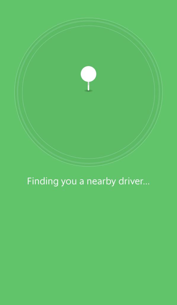 Grabのドライバー検索画面