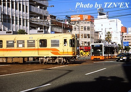 伊予鉄道・大手町の平面交差