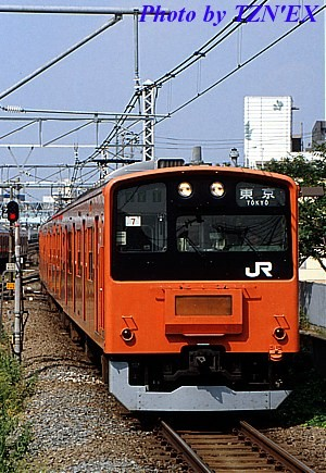 77T運用の201系H7編成