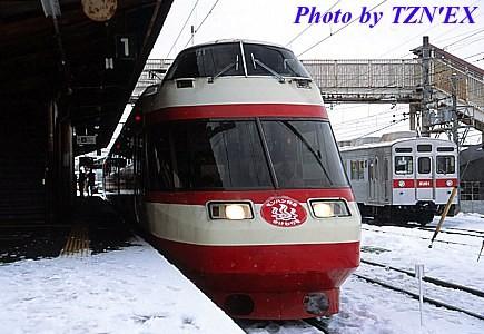 長野電鉄1000系と8500系の並び