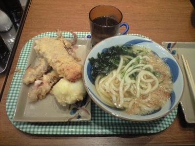 竹清アリオ倉敷店のうどんと天ぷら