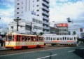 [20120917]大手町での市内電車と郊外電車の交差(モハ50形と3000系)