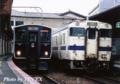 [817系][キハ47]福北ゆたか線の817系(左)と若松線のキハ47(右)