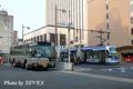 宇野バスとMOMO2の並び