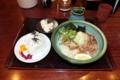 宇多津・「塩がま屋」の肉ぶっかけとおにぎりのセット