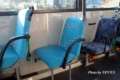 ヤマノススメラッピングバスの座席