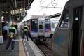 松山名物、「しおかぜ」「宇和海」の縦列停車