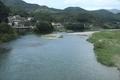 予讃線の車窓風景(肱川)