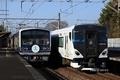 3506編成(Aqours結成5周年記念ヘッドマーク)とE257系試運転列車