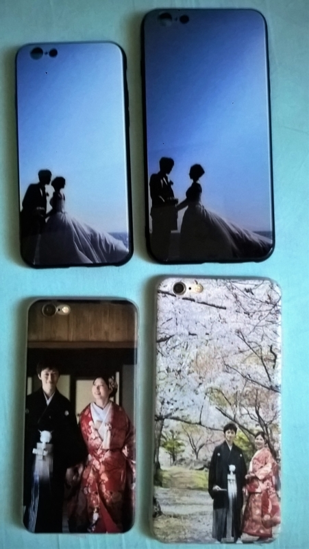 two pairs of mobile phone cases