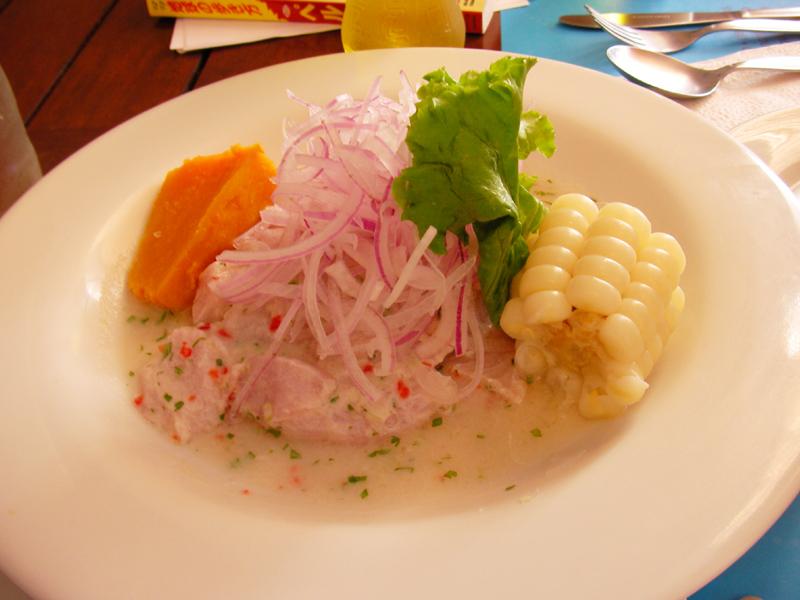 ペルー料理:セビーチェ (Cebiche)