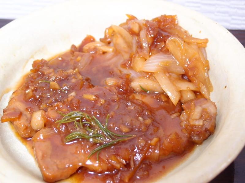 豚肉マーマレード醤油焼き