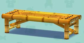 ポケ森の竹のベンチ