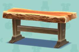 ポケ森の一枚板のテーブル